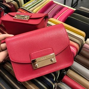 New Furla red mini Julia bag